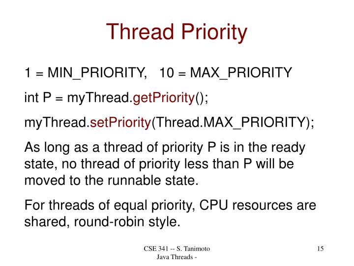 Thread Priority