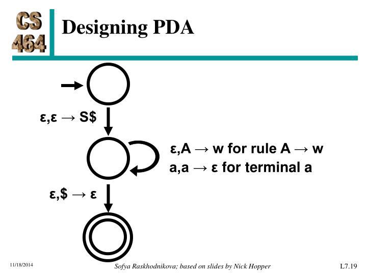Designing PDA