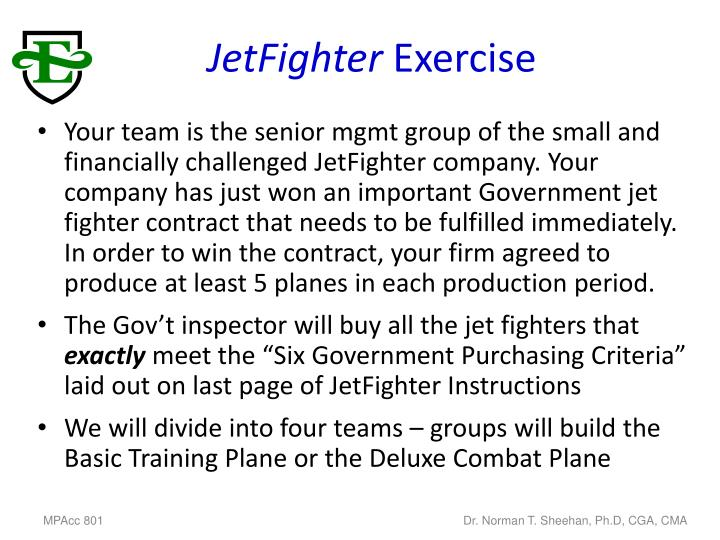 Jetfighter exercise