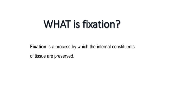 WHAT is fixation?