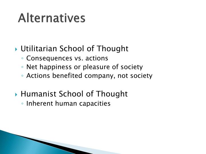 Utilitarian School of Thought