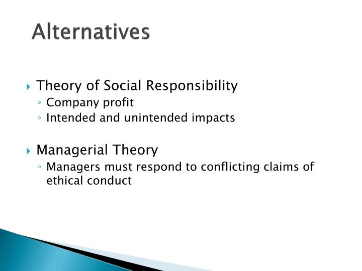 Theory of Social Responsibility