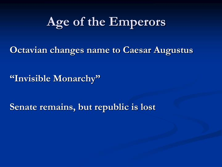 Age of the Emperors