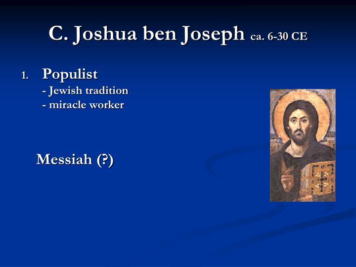 C. Joshua ben Joseph