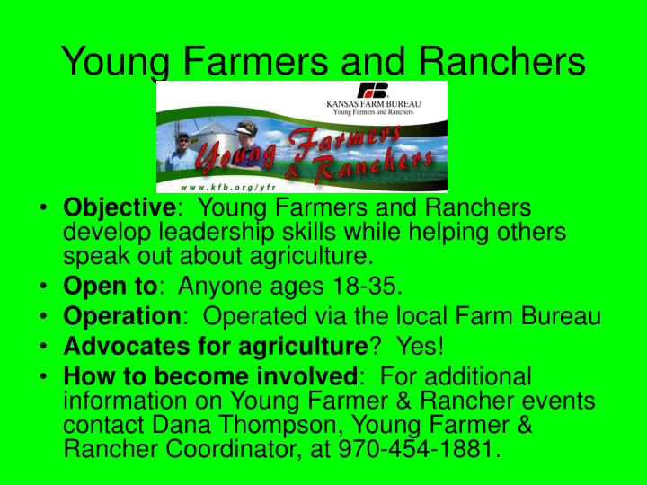 Young Farmers and Ranchers