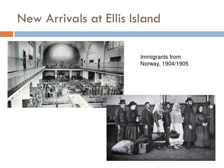 New Arrivals at Ellis Island