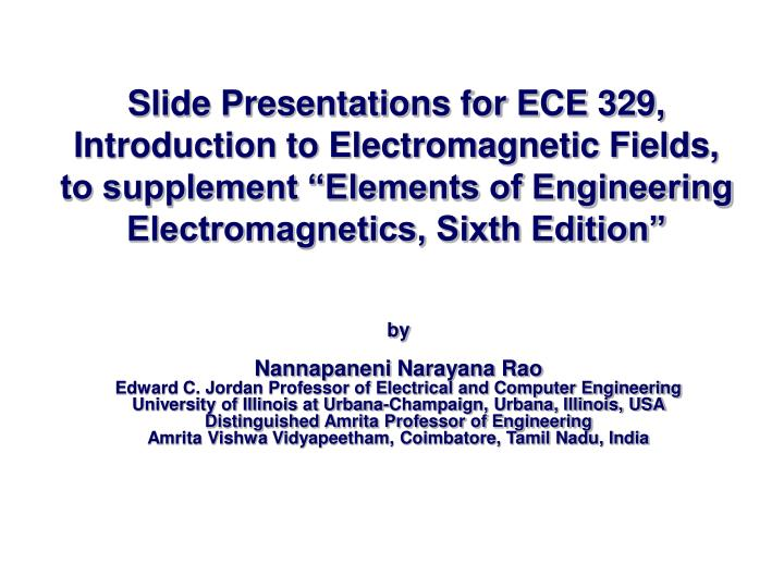 Slide Presentations for ECE 329,