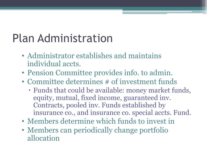 Plan Administration