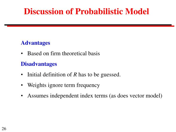 Discussion of Probabilistic Model