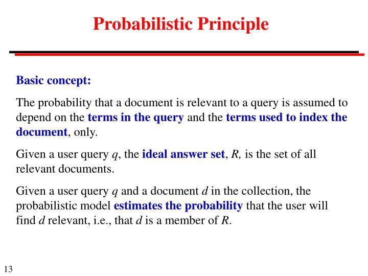 Probabilistic Principle