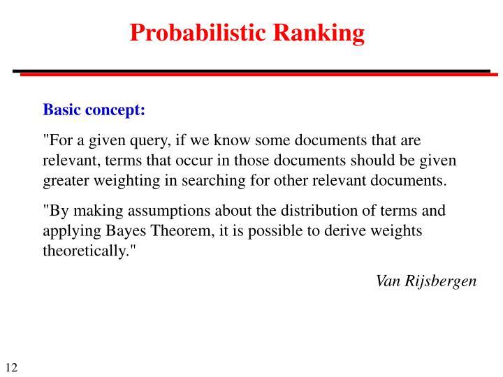 Probabilistic Ranking