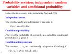 probability revision independent random variables and conditional probability