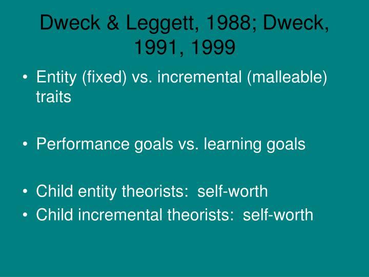 Dweck & Leggett, 1988; Dweck, 1991, 1999