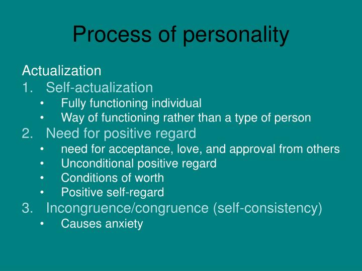 Process of personality