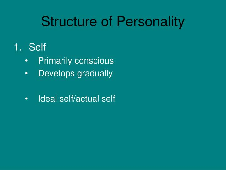 Structure of personality