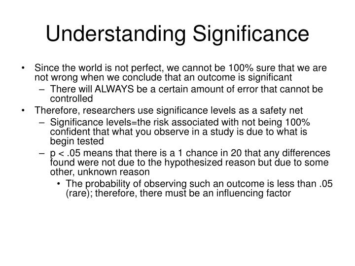 Understanding Significance