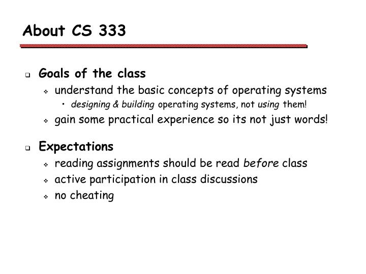 About cs 333