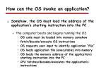 how can the os invoke an application1