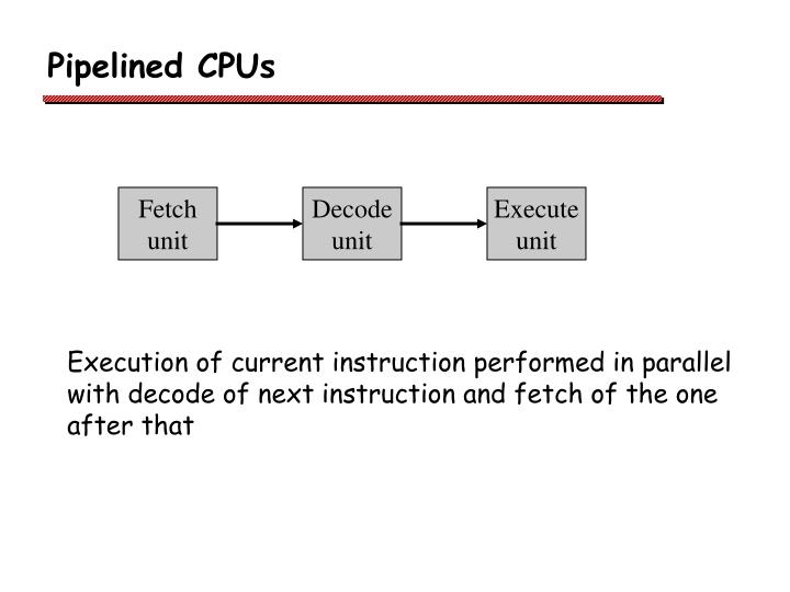 Pipelined CPUs