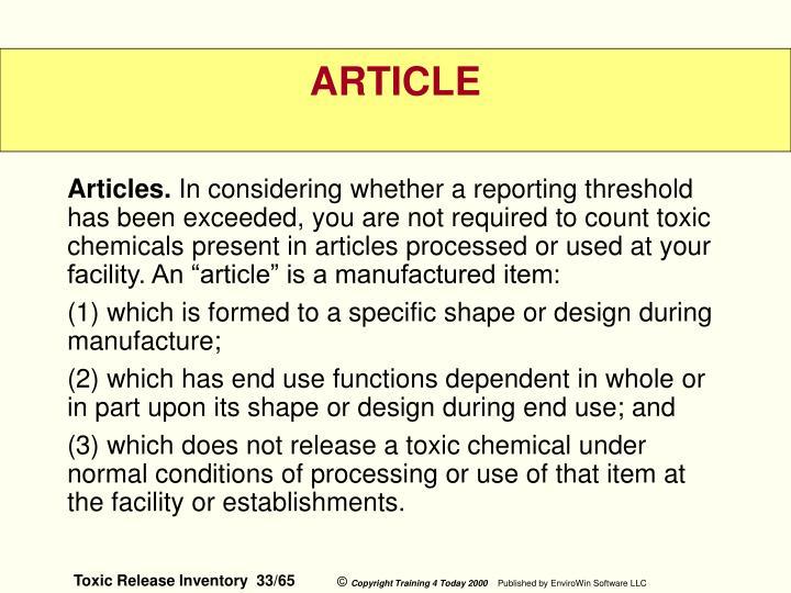 Articles.