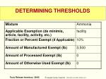determining thresholds2