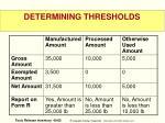 determining thresholds3