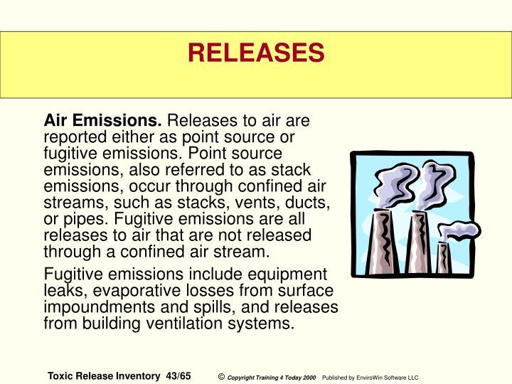 Air Emissions.