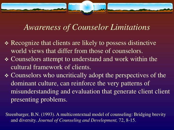 Awareness of Counselor Limitations