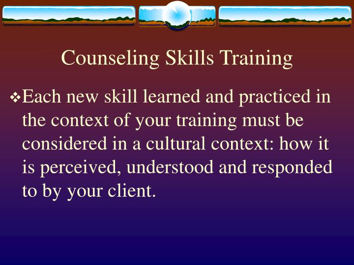 Counseling Skills Training