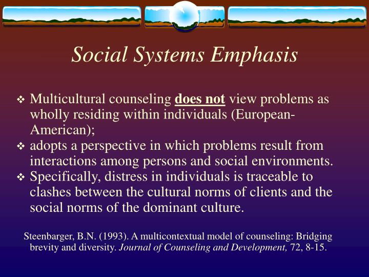 Social Systems Emphasis
