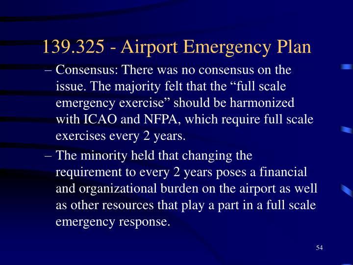 139.325 - Airport Emergency Plan