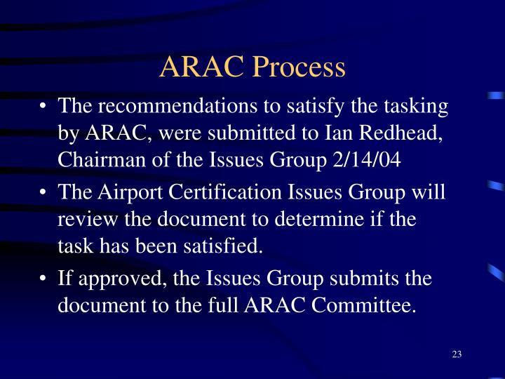 ARAC Process