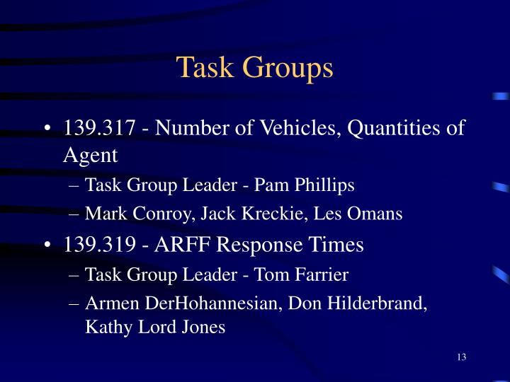 Task Groups