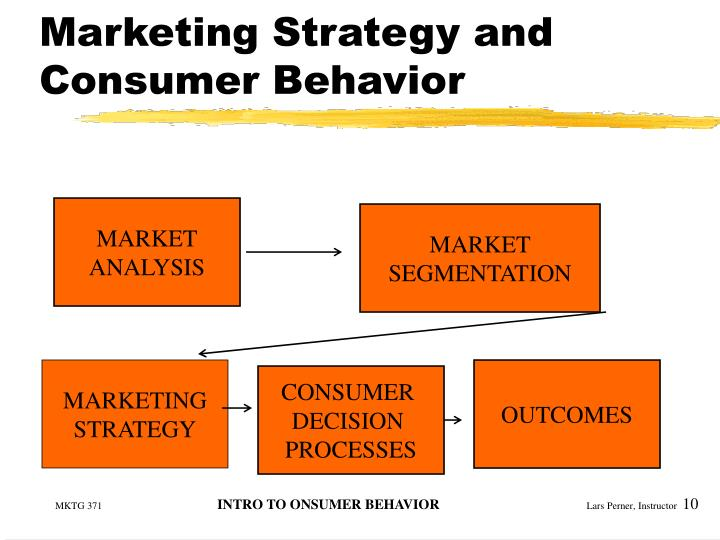 Marketing Strategy and Consumer Behavior