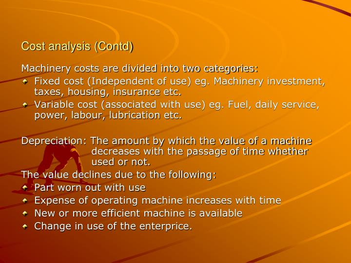 Cost analysis (Contd)