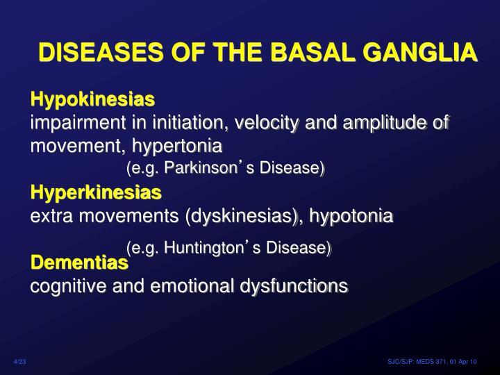 DISEASES OF THE BASAL GANGLIA