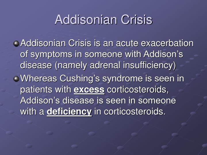 Addisonian Crisis