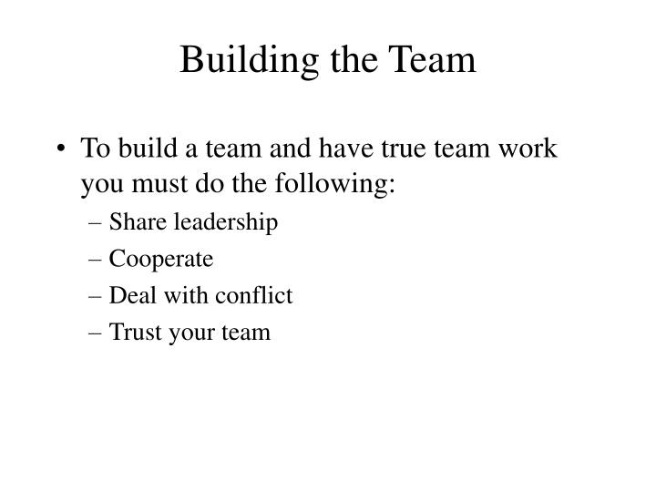 Building the Team