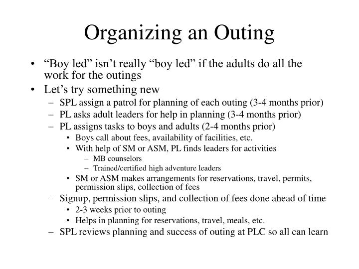 Organizing an Outing