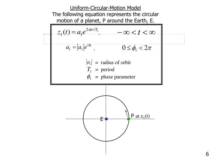 Uniform-Circular-Motion Model