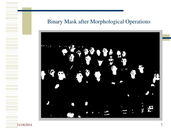 Binary Mask after Morphological Operations