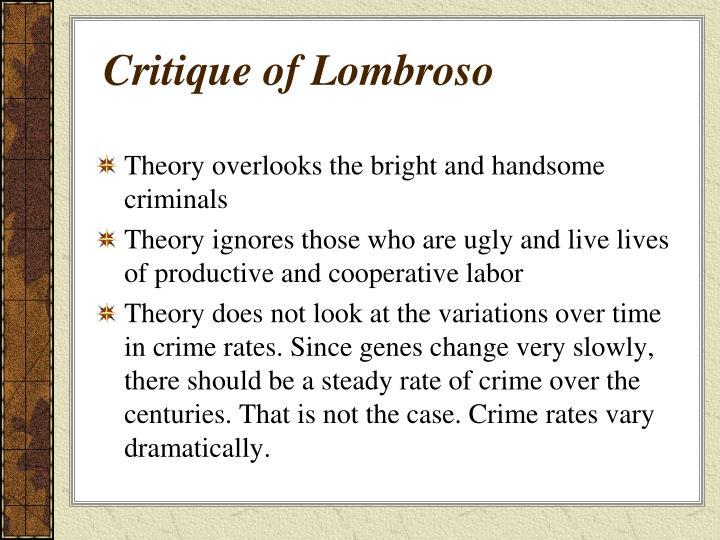 Critique of Lombroso