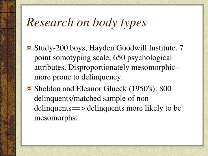 Research on body types