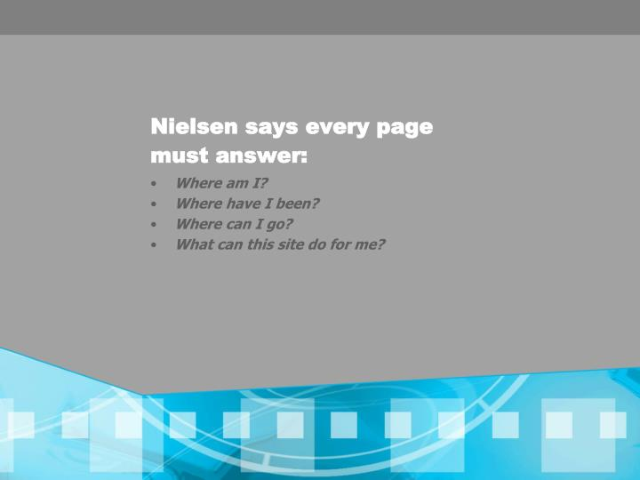 Nielsen says every page