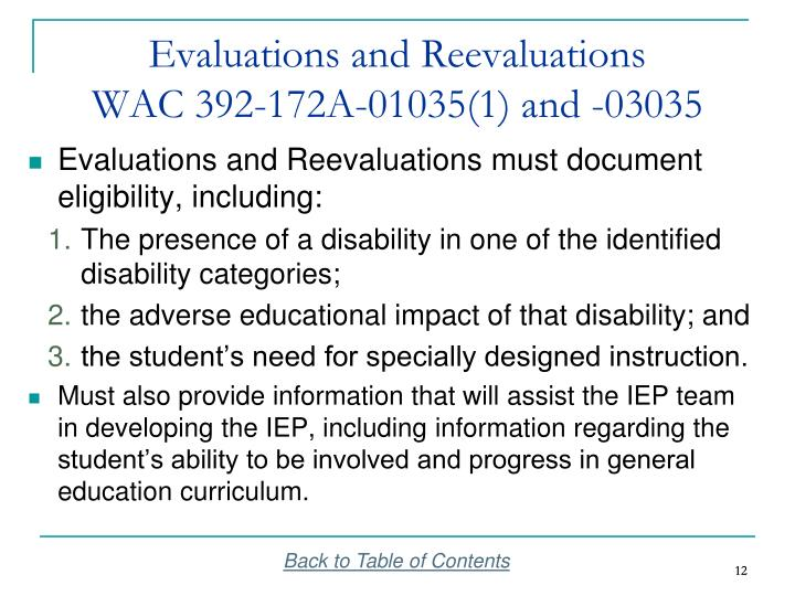 Evaluations and Reevaluations