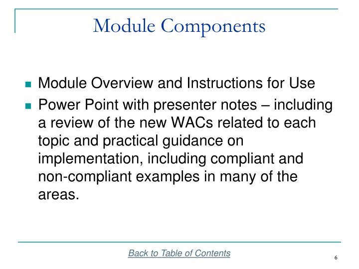 Module Components