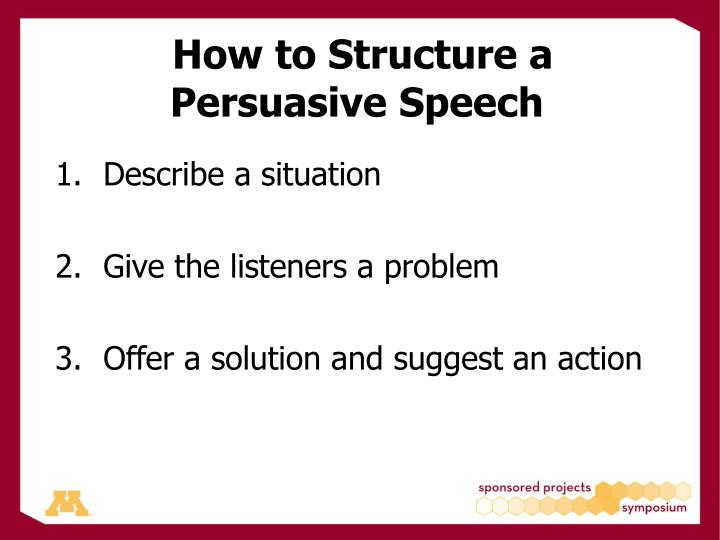 How to Structure a Persuasive Speech