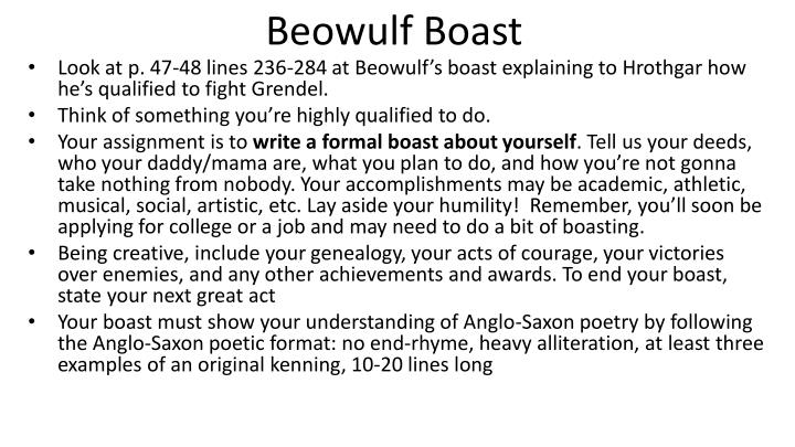 Write my essays about beowulf