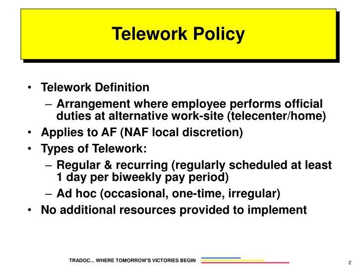 Telework policy