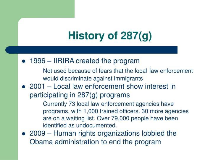 History of 287(g)